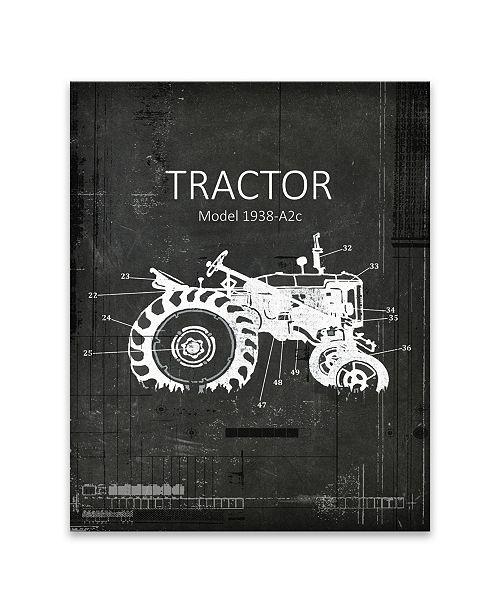 Artissimo Designs Industrial Farm Tractor 2 Printed Canvas