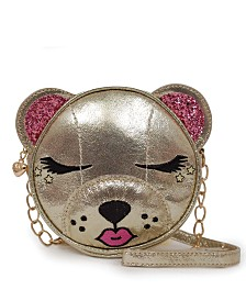 OMG! Accessories One Size Metallic Bear Crossbody
