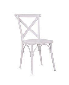 Rustic Cross Back Metal Modern Farmhouse Dining Chair
