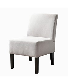 AC Pacific Modern Upholstered Armless Slipper Chair with Full Back