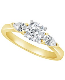 Certified Round Diamond Engagement Ring (1 1/10 ct. t.w.) in 14k White Gold, Rose Gold, or Yellow Gold