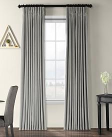 "Exclusive Fabrics & Furnishings Signature Extra Wide Blackout Velvet 100"" x 108"" Curtain Panel"