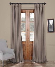"Exclusive Fabrics & Furnishings Solid Cotton Blackout 50"" x 84"" Curtain Panel"