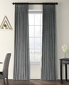 "Exclusive Fabrics & Furnishings Signature Extra Wide Blackout Velvet 100"" x 120"" Curtain Panel"