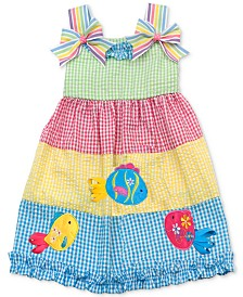 Rare Editions Little Girls Colorblocked Gingham Seersucker Dress
