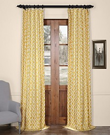 "Exclusive Fabrics & Furnishings Martinique Printed Cotton 50"" x 96"" Curtain Panel"