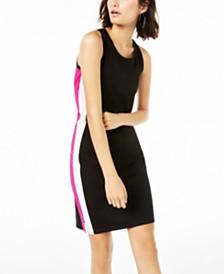 Bar III Varsity-Stripe Sheath Dress, Created for Macy's