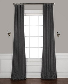 "Faux Linen 50"" x 84"" Blackout Curtain Panel"