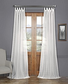 "Montpellier Striped Linen Sheer 50"" x 108"" Curtain Panel"