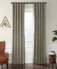 "Exclusive Fabrics & Furnishings Filigree Flocked 50"" x 120"" Curtain Panel"