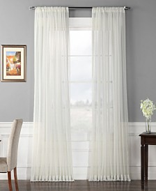 """Exclusive Fabrics & Furnishings Extra Wide Solid Voile Poly Sheer 100"""" x 84"""" Curtain Panel"""