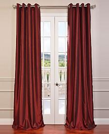 "Exclusive Fabrics & Furnishings Grommet Blackout Vintage Textured 50"" x 84"" Curtain Panel"