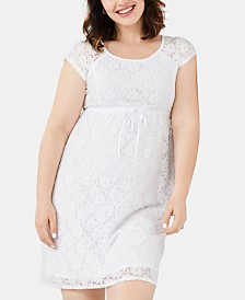 Motherhood Maternity Lace Dress