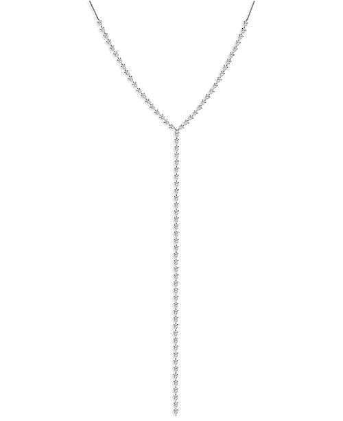 ZAXIE by Stefanie Taylor ZAXIE Pear-Shaped CZ Adjustable Lariat Necklace