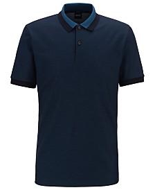 BOSS Men's Phillipson 55 Slim-Fit Cotton Polo Shirt