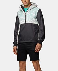 BOSS Men's J_Mersey Water-Repellent Half-Zip Jacket