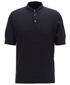 BOSS Men's T-Janmarco Knitted Polo Shirt
