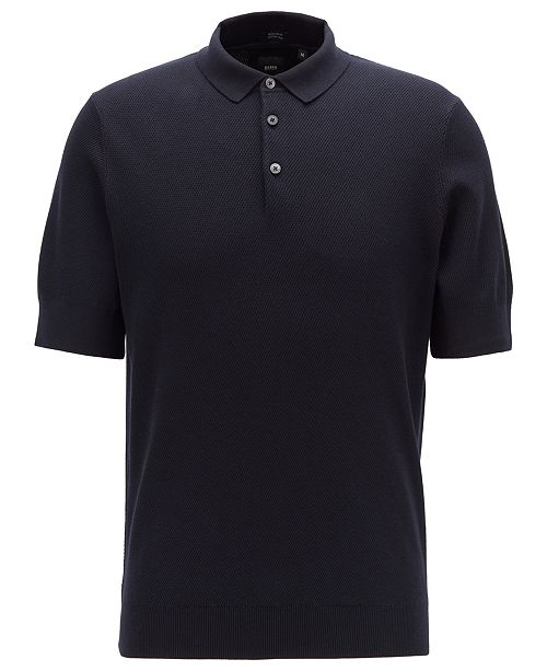 7e8888f26 Hugo Boss BOSS Men's T-Janmarco Knitted Polo Shirt & Reviews - Hugo ...