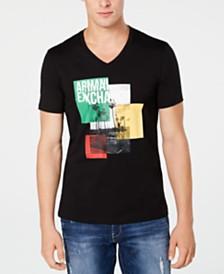 A|X Armani Exchange Men's Palm-Tree Logo Graphic T-Shirt