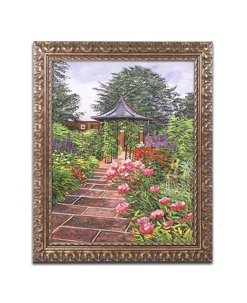 """Trademark Global David Lloyd Glover 'Carrington Garden' Ornate Framed Art - 16"""" x 20"""""""