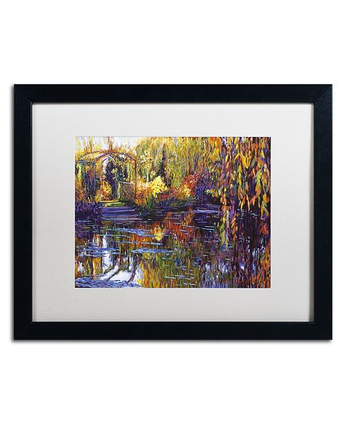 "Trademark Global David Lloyd Glover 'Tapestry Reflection' Matted Framed Art - 16"" x 20"""