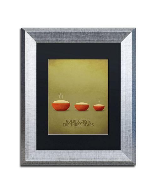"""Trademark Global Christian Jackson 'Goldilocks' Matted Framed Art - 11"""" x 14"""""""