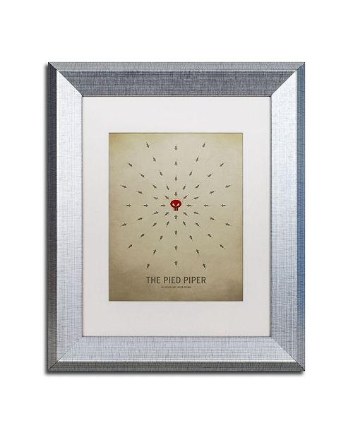 "Trademark Global Christian Jackson 'Pied Piper' Matted Framed Art - 11"" x 14"""