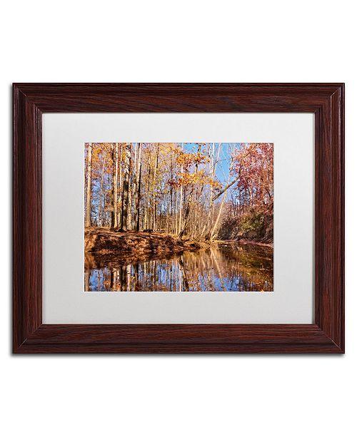 "Trademark Global Jason Shaffer 'Beaver Creek 7' Matted Framed Art - 14"" x 11"""