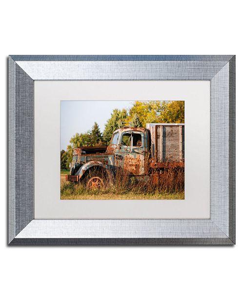 "Trademark Global Jason Shaffer 'Findlay Truck' Matted Framed Art - 14"" x 11"""