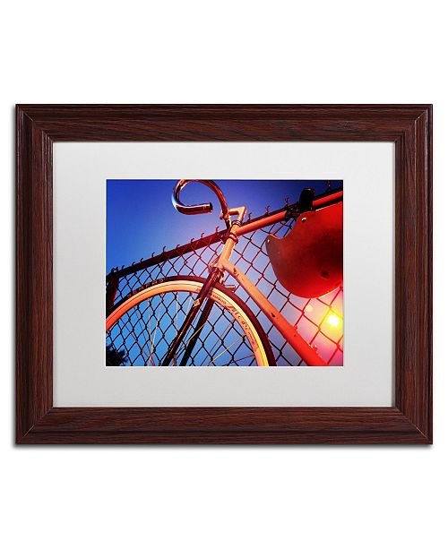 "Trademark Global Jason Shaffer 'Fixie' Matted Framed Art - 14"" x 11"""
