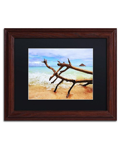 "Trademark Global Jason Shaffer 'Hawaii 2' Matted Framed Art - 14"" x 11"""