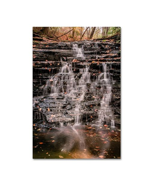 "Trademark Global Jason Shaffer 'Hidden Falls' Canvas Art - 12"" x 19"""