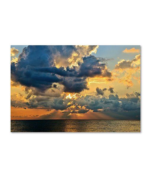 "Trademark Global Jason Shaffer 'July Sunset' Canvas Art - 24"" x 16"""