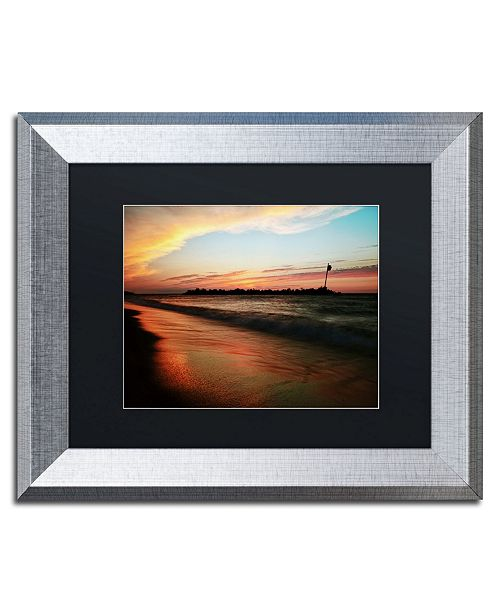 "Trademark Global Jason Shaffer 'Lakeview Sunset' Matted Framed Art - 14"" x 11"""