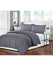 Polyester Medium Warmth Down Alternative Queen Comforter with Duvet Insert
