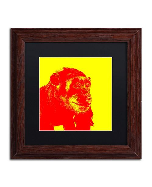 """Trademark Global Claire Doherty 'Chimp No 4' Matted Framed Art - 11"""" x 11"""""""
