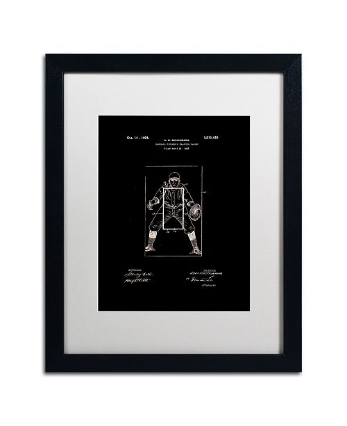 "Trademark Global Claire Doherty 'Practice Target Patent 1924 Black' Matted Framed Art - 16"" x 20"""