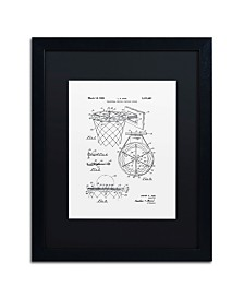 """Claire Doherty 'Basketball Hoop Patent 1965 White' Matted Framed Art - 16"""" x 20"""""""