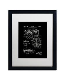 """Claire Doherty 'Basketball Hoop Patent 1965 Black' Matted Framed Art - 16"""" x 20"""""""