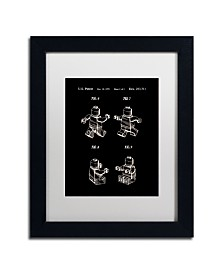 """Claire Doherty 'Lego Man Patent 1979 Page 2 Black' Matted Framed Art - 11"""" x 14"""""""