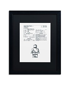 """Claire Doherty 'Lego Man Patent 1979 White' Matted Framed Art - 16"""" x 20"""""""