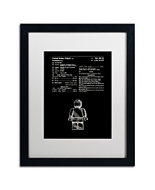 """Claire Doherty 'Lego Man Patent 1979 Black' Matted Framed Art - 16"""" x 20"""""""