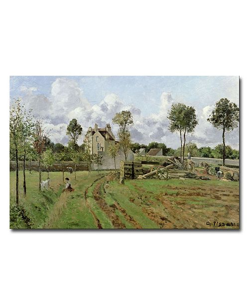"Trademark Global Camille Pissarro 'Louveciennes, 1872' Canvas Art - 32"" x 22"""