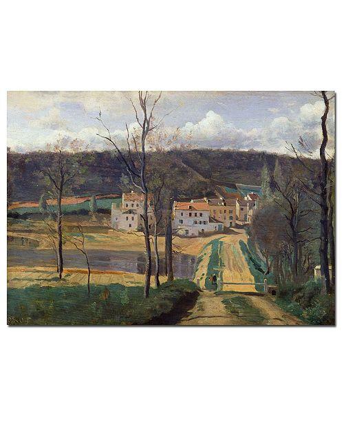 "Trademark Global Jean Baptiste Corot 'Ville d'Avray 1820' Canvas Art - 47"" x 35"""
