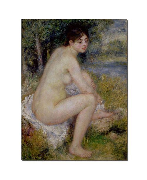 """Trademark Global Pierre Auguste Renoir 'Nude in a Landscape, 1883' Canvas Art - 24"""" x 18"""""""