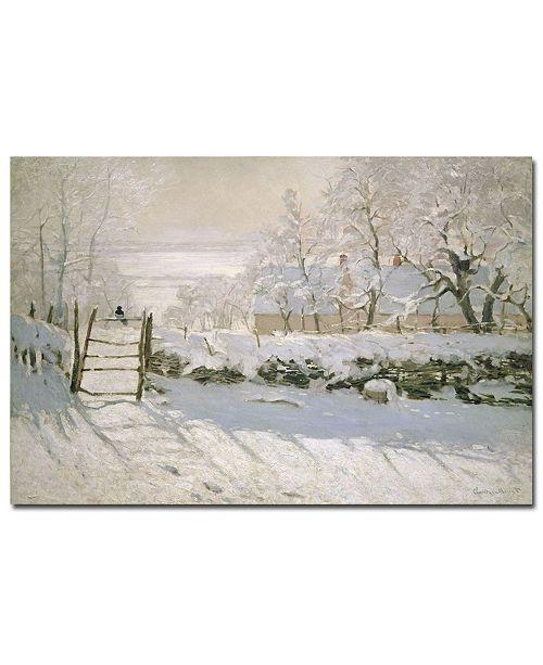 "Trademark Global Claude Monet 'The Magpie, 1869' Canvas Art - 24"" x 18"""