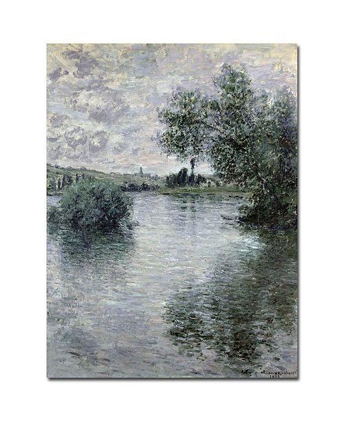 "Trademark Global Claude Monet 'Seine at Vetheuil 1879' Canvas Art - 24"" x 18"""