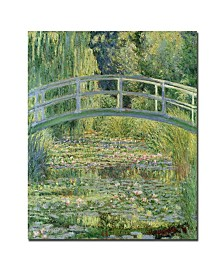 "Claude Monet 'The Waterlily Pond Pink Harmony 1899' Canvas Art - 47"" x 35"""