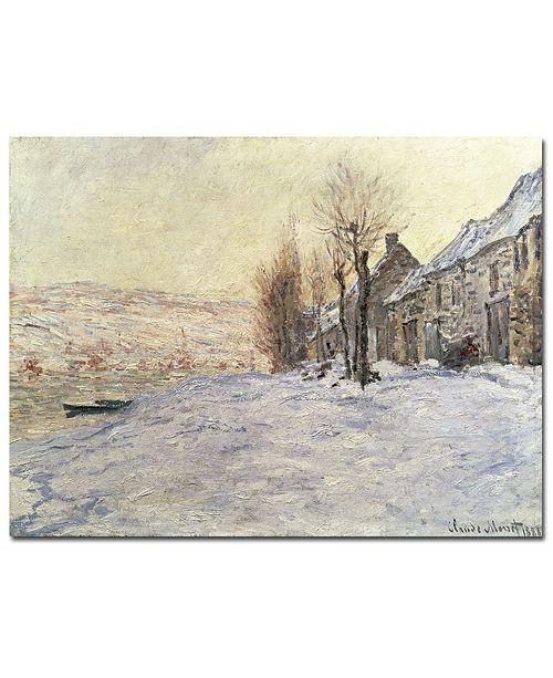 "Trademark Global Claude Monet 'Lavacourt Under Snow 1878-81' Canvas Art - 14"" x 19"""