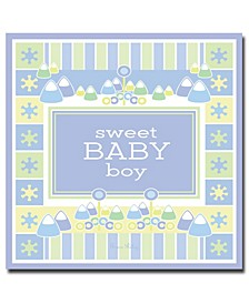 "Grace Riley 'Sweet Baby Boy' Canvas Art - 14"" x 14"""